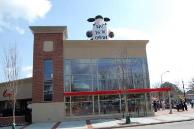 The Chick-Fil-A opened in Cameron Village in Raleigh on March 1, 2012.