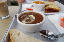 Black bean soup with lemon from Sandwhich in Chapel Hill.