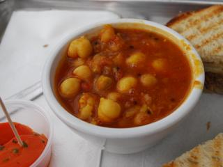 Indian chickpea soup from Sandwhich in Chapel Hill.