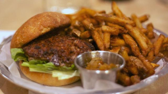 The gator burger at Bull City Burger and Brewery in Durham. (Images by The Straight Beef)