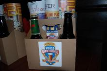 The swag bag for World Beer Festival's press conference.