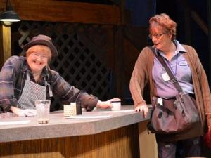 "Libby McNeill Seymour and Patricia Cucco in ""The Spitfire Grill."" (Photo by Leslie E. Flom)"