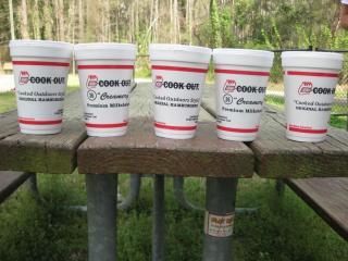 Cook Out milkshakes (Photo by Brian Lorello)