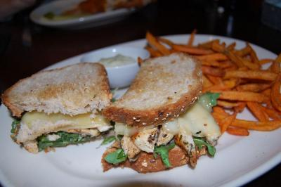 The grilled chicken sandwich at Fork and Barrel in Raleigh.