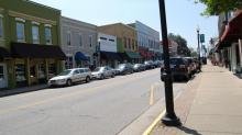 IMAGE: Parking spaces converted into outdoor dining in downtown Apex