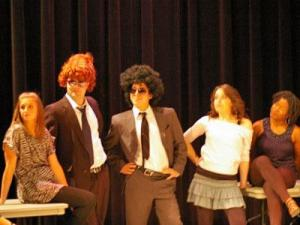 Duke law students participate in the annual Tricky Dick variety show in 2011. (Image from Duke Law's website)