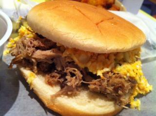The barbecue sandwich at The Pig (Photo by Chris Reid)