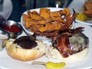 The Stuffed Burger at Tobacco Road Sports Cafe in Raleigh. (Image from The Straight Beef)