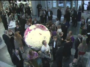 Guest mingled at a gala preview of the Nature Research Center in the NC Museum of Natural Sciences.