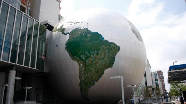 The SECU Daily Planet is part of the new Nature Research Center at the North Carolina Museum of Natural Sciences, which opened on April 20, 2012.