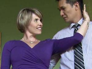 """WRAL reporter and weekend anchor Sloane Heffernan practices to compete in the annual """"Dancing Like the Stars"""" competition held during the Southern Women's Show in Raleigh on April 28."""