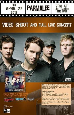 Parmalee video shoot April 27 at Deep Sout the Bar (Image from Facebook)