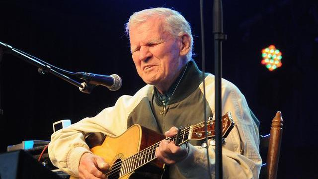 Doc Watson during Merlefest. (Photo by Jim Gavenus )