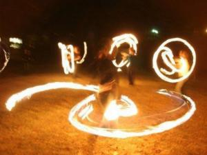 Circus Spark Fire Dancers