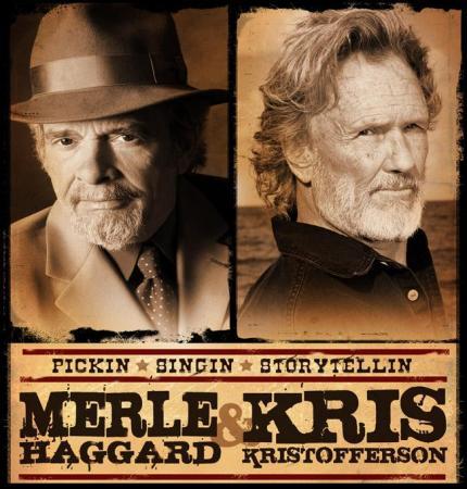 Merle Haggard & Kris Kristofferson (Image from Koka Booth Amphitheatre)