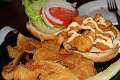 The Cajun Shrimp Po-Boy at Mahoney's Pub in Cary.