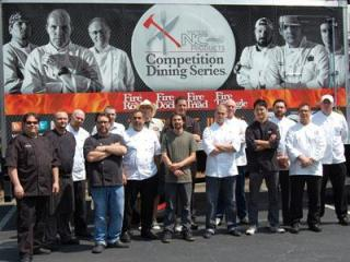 The 16 local chefs competiting in Fire in the Triangle.