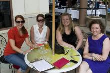 Adrianna, Ashley, Keri, and Leah from the International Interior Design Assoc. enjoy North Hills Midtown Music: Beach Music Series