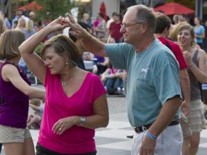 Mike and Barbara Anderson dance the night away at the North Hills Midtown Music: Beach Music Series