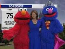 Elmo, Grover visit WRAL