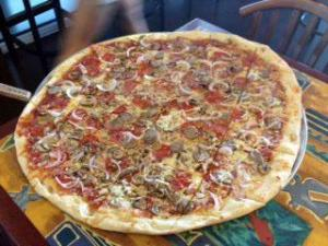 The 24-inch pizza at Ruckus.