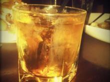 Sullivan's Steakhouse: Manhattan - vermouth - bitters = :)