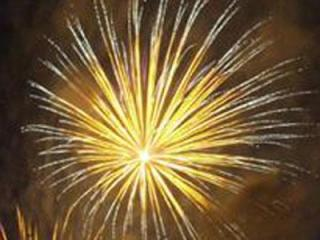 Fireworks in Holly Springs on Saturday, July 5, 2008. (photo by Thomas Babb)