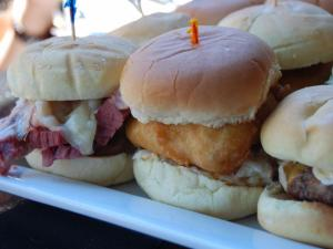The Reuben, cod and hamburger sliders at Hibernian.