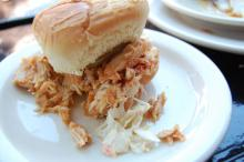 The barbecue pulled chicken slider at Hibernian.