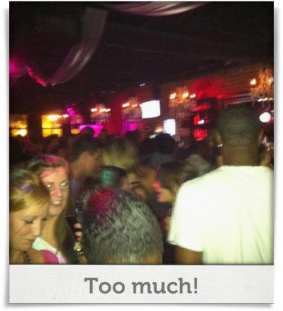 Taken at Noir Bar & Lounge.  Comment: Too much!