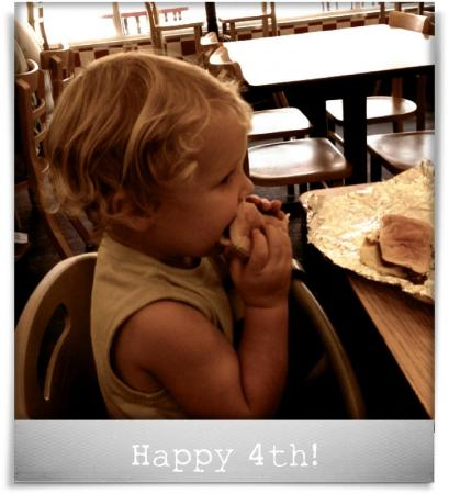 Taken at Five Guys Burgers & Fries.  Comment: Happy 4th!
