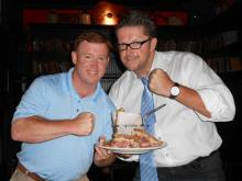 Ray Dorry, owner of Dorry's Downtown Deli & Catering, and Niall Hanley, owner of Hibernian Irish Pub & Restaurant in Cary, decided to let the people decide which restaurant's Reuben is the best.