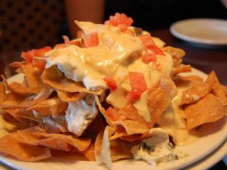 The spinach and artichoke nachos at Chow in Raleigh.