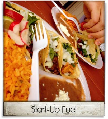 Taken at Taqueria La Vaquita.  Comment: Start-Up Fuel