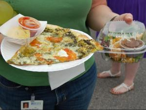 The Pie Pushers food truck was a popular choice at the RTP Food Truck Rodeo on July 12, 2012.