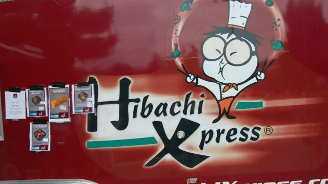 Hibachi Xpress offered items like veggie spring rolls.