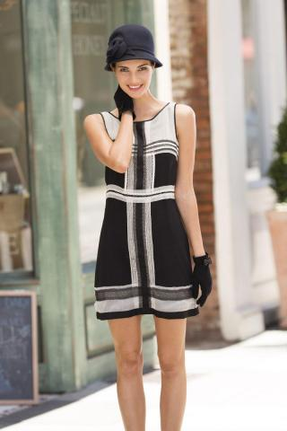 My Fair Lady trend: Sophie Max sleeveless dress with lace trim ($128) Exclusively at Belk (Image courtesy of Belk)