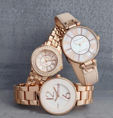 Fashion watch: Anne Klein blush watches ($65-$85) (Image from Belk)
