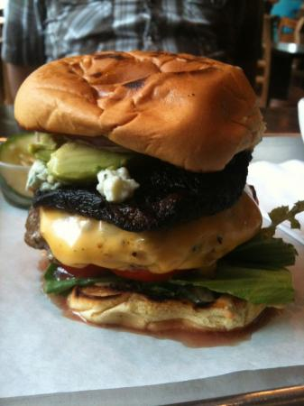 The BAMF burger at Sandwhich in Chapel Hill. (Photo by Chris Rhyne Reid)