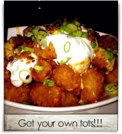 Taken at Busy Bee Cafe.  Comment: Get your own tots!!!