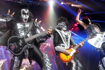 Rock legends KISS entertained a lively crowd at Time Warner Cable Music Pavilion at Walnut Creek on Sunday, July 22, 2012 in Raleigh. (Photo by Jack Morton)