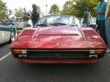 A Ferrari at the Cars and Coffee event in Brier Creek. (Photo by Brian Lorello)