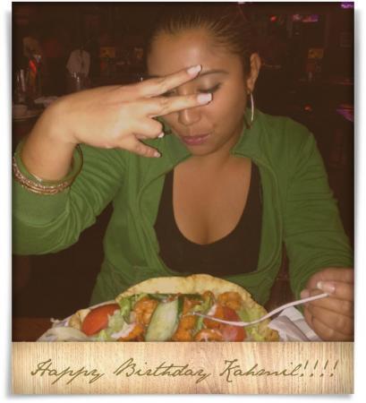Taken at Carolina Ale House.  Comment: Happy Birthday Kahmil!!!!