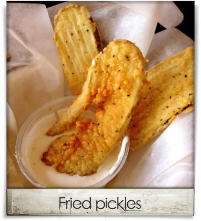 Taken at Raleigh Times Bar.  Comment: Fried pickles