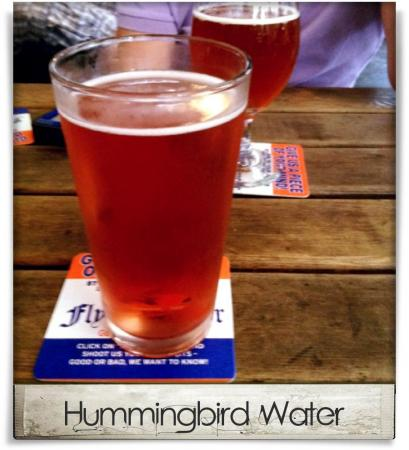 Taken at Flying Saucer Draught Emporium.  Comment: Hummingbird Water
