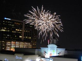 Fireworks helped close out the final Midtown Beach Music Series at North Hills this summer.