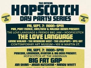 Hopscotch Music Festival is planned Sept. 6-8, 2012, across downtown Raleigh. In addition to the evening shows, several day parties are planned throughout those days.