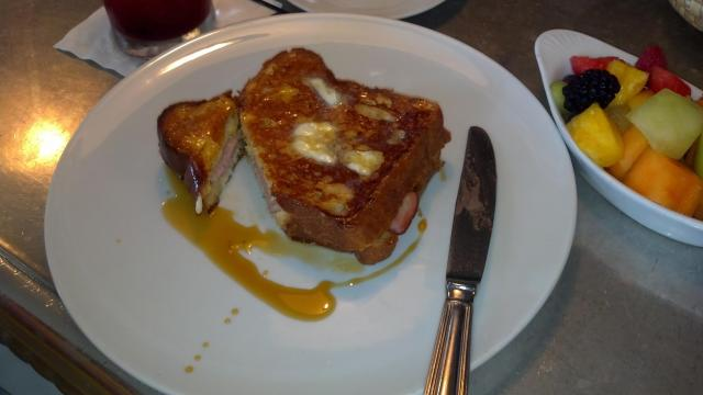 Monte Cristo at Coquette features ham, turkey, guyere on French toast.