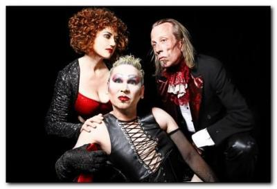 """The Rocky Horror Show"" stars Sandi Sullivan as Magenta, James Ilsley as Frank 'N' Furter and Brent Wilson as Riff Raff.  (Photo by Curtis Brown)"