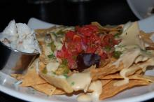 The crabmeat nachos at Margaux's Restaurant in Raleigh.